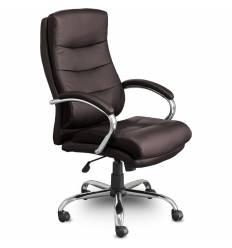 Кресло UTFC Store Бруно М-707 для руководителя, хром, экокожа, цвет шоколад