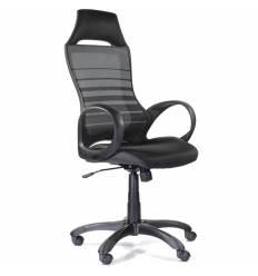 Кресло UTFC Store Тесла М-709 для руководителя, черный пластик, сетка/ткань, цвет черный