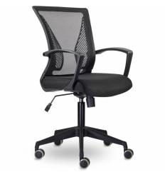 Кресло UTFC Store Энжел М-800 для оператора, черный пластик, сетка/ткань, цвет черный