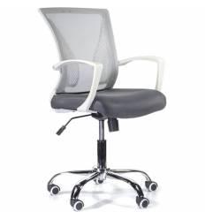 Кресло UTFC Store Энжел М-800 для оператора, белый пластик, сетка/ткань, цвет серый