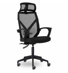 Кресло UTFC Store Астон М-711 для руководителя, сетка/ткань, цвет черный