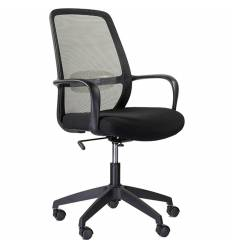Кресло UTFC Store Понти М-802 для оператора, сетка/ткань, цвет черный