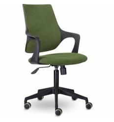 Кресло UTFC Store Ситро М-804 для оператора, черный пластик, ткань, цвет зеленый