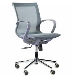 Кресло UTFC Store Йота М-805 для оператора, серый пластик, сетка, цвет голубой
