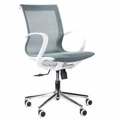 Кресло UTFC Store Йота М-805 для оператора, белый пластик, сетка, цвет голубой