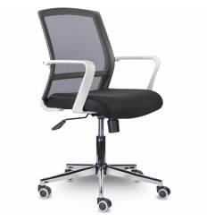 Кресло UTFC Дэли CH-503 для оператора, белый пластик, хром, сетка/ткань