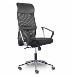 Кресло UTFC Директ Люкс В МС-040 для оператора, хром, сетка/ткань/экокожа