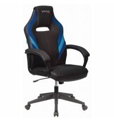Кресло Бюрократ VIKING 3 AERO BLUE игровое, экокожа/ткань, цвет черный/синий