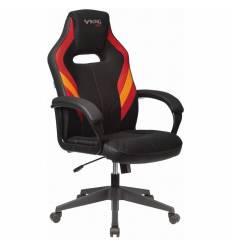 Кресло Бюрократ VIKING 3 AERO RED игровое, экокожа/ткань, цвет черный/красный