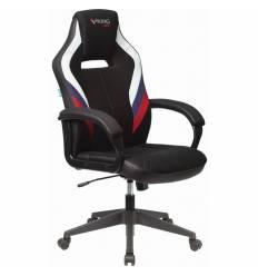 Кресло Бюрократ VIKING 3 AERO RUS игровое, экокожа/ткань, цвет черный/белый/синий/красный
