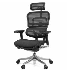 Кресло Comfort Seating Ergohuman Plus Black для руководителя, эргономичное, сетка, цвет черный
