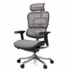 Кресло Comfort Seating Ergohuman Plus Gray для руководителя, эргономичное, сетка, цвет серый