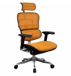 Кресло Comfort Seating Ergohuman Plus Orange для руководителя, эргономичное, сетка, цвет оранжевый