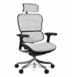 Кресло Comfort Seating Ergohuman Plus White для руководителя, эргономичное, сетка, цвет белый