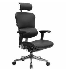 Кресло Comfort Seating Ergohuman Plus Lux Black для руководителя, эргономичное, кожа, цвет черный