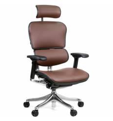 Кресло Comfort Seating Ergohuman Plus Lux Brown для руководителя, эргономичное, кожа, цвет коричневый