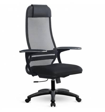 Кресло Metta SU-1-BP Комплект 14 черный для руководителя, сетка/ткань