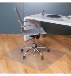 Коврик защитный для напольных покрытий BRABIX, поликарбонат, 90х120 см, шагрень, толщина 1,8 мм, 604850