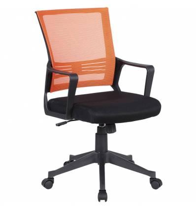 Кресло BRABIX Balance MG-320 для оператора, сетка/ткань, оранжевое/черное
