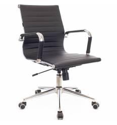 Кресло EVERPROF LEO T PU Black для руководителя, экокожа, цвет черный