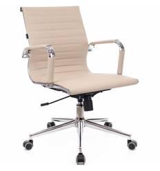 Кресло EVERPROF LEO T PU Beige для руководителя, экокожа, цвет бежевый