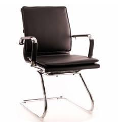 Кресло EVERPROF NEREY CF PU Black для посетителя, экокожа, цвет черный
