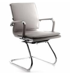 Кресло EVERPROF NEREY CF PU Grey для посетителя, экокожа, цвет серый