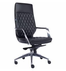 Кресло EVERPROF Roma Black для руководителя, кожа, цвет черный