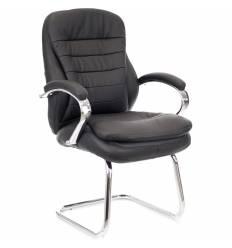 Кресло EVERPROF Valencia CF PU Black для посетителя, экокожа, цвет черный