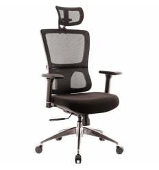 Кресло EVERPROF Everest S Black для руководителя, сетка/ткань, цвет черный
