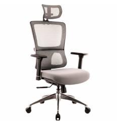 Кресло EVERPROF Everest S Grey для руководителя, сетка/ткань, цвет серый
