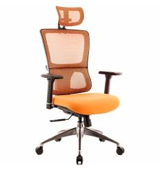 Кресло EVERPROF Everest S Orange для руководителя, сетка/ткань, цвет оранжевый