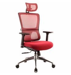 Кресло EVERPROF Everest S Red для руководителя, сетка/ткань, цвет красный