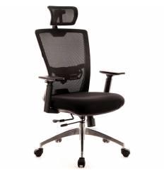 Кресло EVERPROF Polo S Black для руководителя, сетка/ткань, цвет черный