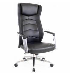 Кресло EVERPROF Parlament Black для руководителя, повышенной прочности, кожа, цвет черный