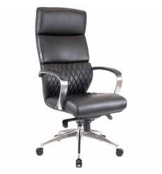 Кресло EVERPROF President Black для руководителя, повышенной прочности, кожа, цвет черный