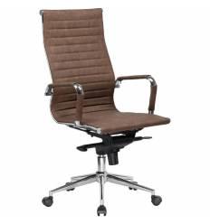 Кресло LMR-101F/brown loft для руководителя, экокожа, цвет коричневый