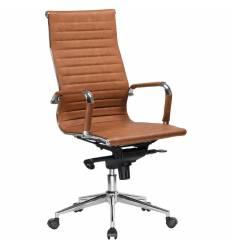 Кресло LMR-101F/light brown для руководителя, экокожа, цвет светло-коричневый