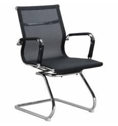 Кресло LMR-102N/mesh black для посетителя, сетка, цвет черный