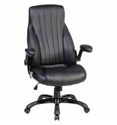 Кресло LMR-112B/black для руководителя, экокожа, цвет черный