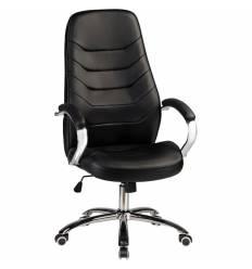 Кресло LMR-115B/black для руководителя, экокожа, цвет черный