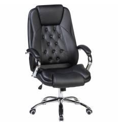 Кресло LMR-116B/black для руководителя, экокожа, цвет черный