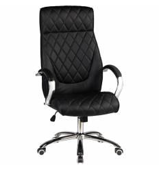 Кресло LMR-117B/black для руководителя, экокожа, цвет черный