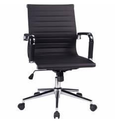 Кресло LMR-118B/black для руководителя, экокожа, цвет черный