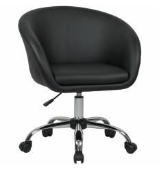 Кресло LM-9400 черный для персонала, хром, экокожа
