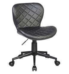 Кресло LM-9700 черный для персонала, экокожа