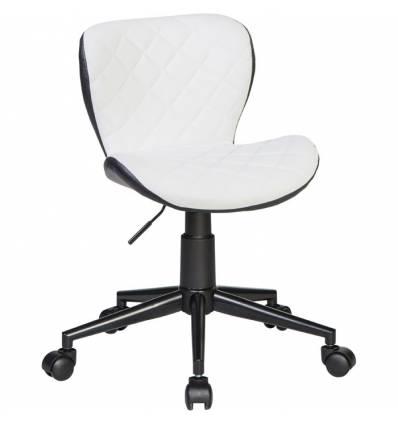 Кресло LM-9700 бело-черное для персонала, экокожа