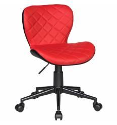 Кресло LM-9700 красно-черное для персонала, экокожа