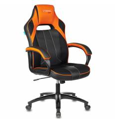 Кресло Бюрократ VIKING 2 AERO ORANGE игровое, экокожа/ткань, цвет черный/оранжевый