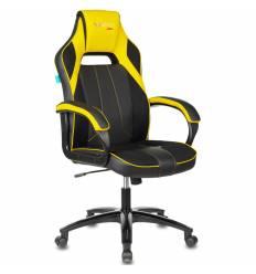 Кресло Бюрократ VIKING 2 AERO YELLOW игровое, экокожа/ткань, цвет черный/желтый